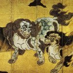 Chinese Guardian Lions by Kano Eitoku