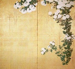 Chrysanthemums by Ogata Korin
