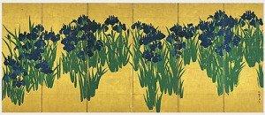 Irises by Ogata Korin
