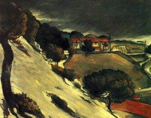 L'Estaque, Melting Snow by Paul Cezanne