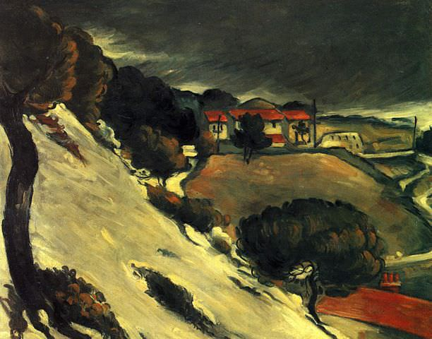 L'Estaque, Melting Snow by Paul Cezanne