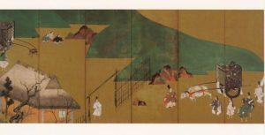 Painting of the chapter Sekiya from The Tale of Genji by Tawaraya Sotatsu