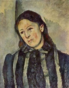 Portrait of Madame Cezanne with Loosened Hair by Paul Cezanne
