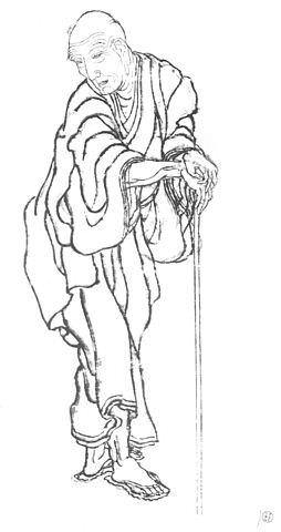 Self-Portrait of Katsushika Hokusai
