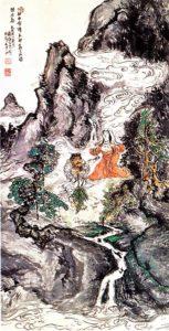 Two Divinities Dancing by Tomioka Tessai