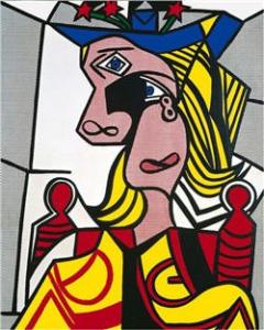 Woman with Flowered Hat by Roy Lichtenstein