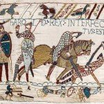 Harold's death depicted in the Bayeux Tapestry
