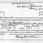 Homestead Certificate