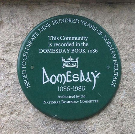 Domesday Book memorial plaques