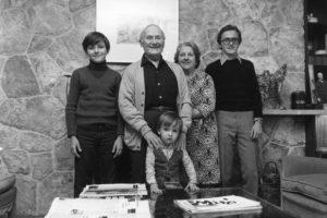 Joan Miro with wife and grandchildren