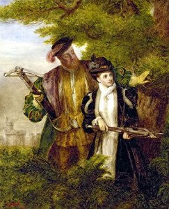 King Henry and Anne Boleyn hunting together