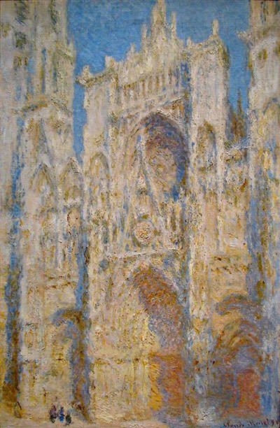 Rouen Cathedral, West Facade, Sunlight (1894) - Claude Monet