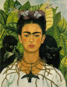 Self-Portrait with Thorn Necklace and Hummingbird (1940)
