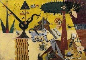The Tilled Field - Joan Miro Painiting