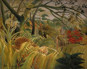 Tiger in a Tropical Storm (Surprised!) (1891)