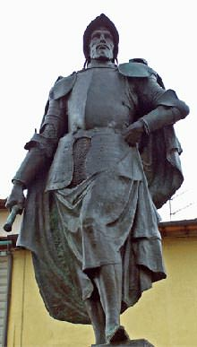 Statue of Verrazzano in Italy