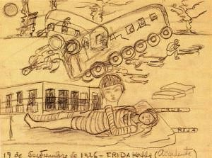 Accident - painting by Frida Kahlo