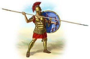 Hoplite with Hoplon and Dory