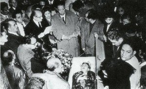 Kahlo's funeral photo