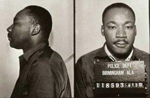 King following his 1963 arrest in Birmingham