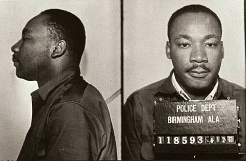 King following his 1963 arrest in Birmingham