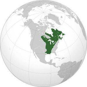 New France On Globe
