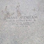 Inscription at the Point of I have a Dream Speech