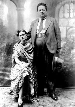 Wedding Photo of Diego Rivera and Frida Kahlo