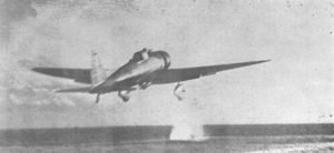 A dive bomber aircraft of Second Attack Wave