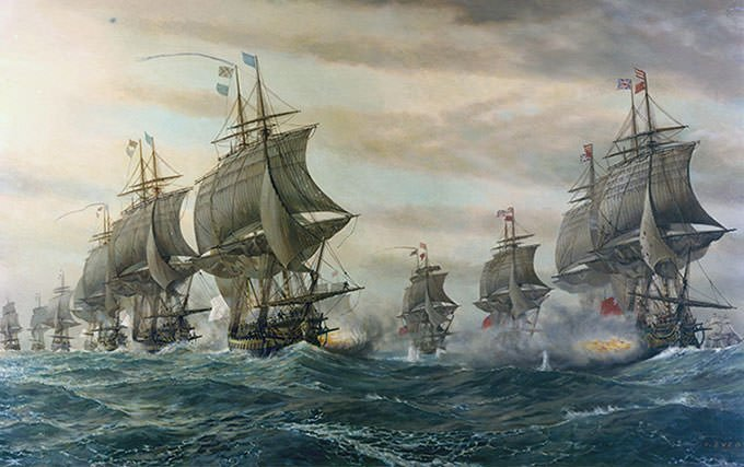 Battle of the Chesapeake Painting
