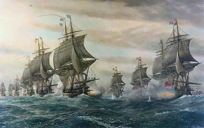 Battle of the Chesapeake Painting