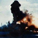 Battleship USS Arizona explodes