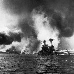Battleship USS California sinking