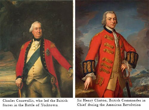 Charles Cornwallis and Henry Clinton