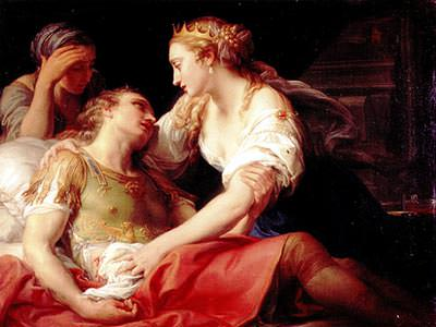 Mark Antony's death depicted by Pompeo Batoni