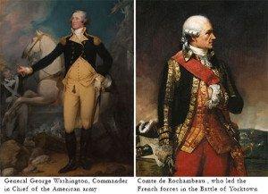 George Washington and Comte de Rochambeau