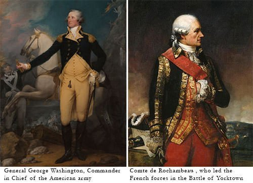George Washington and Comte de Rochambeau