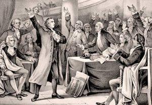 Patrick Henry Liberty Speech Painting