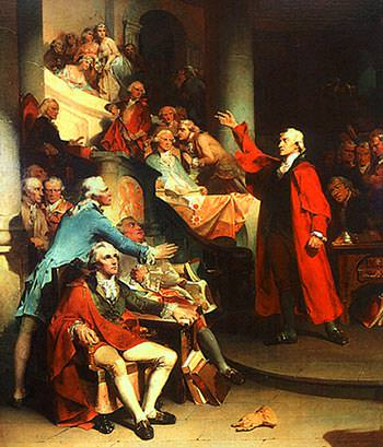 Patrick Henry's Treason Speech: Painting by Rothermel
