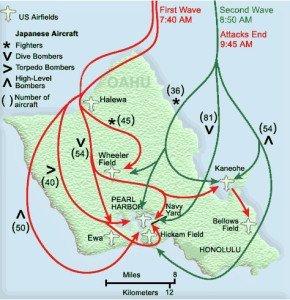 Pearl Harbor attack map