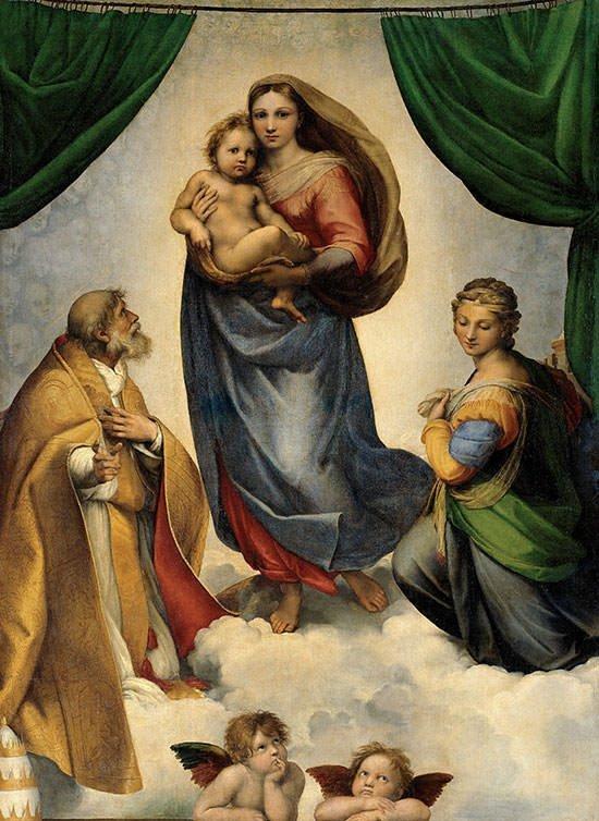 Sistine Madonna (1512) - Raphael