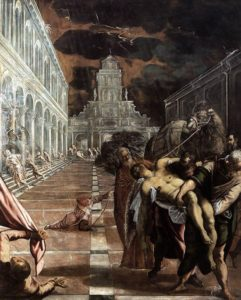 St Mark's Body Brought to Venice (1562-66) - Jacopo Tintoretto