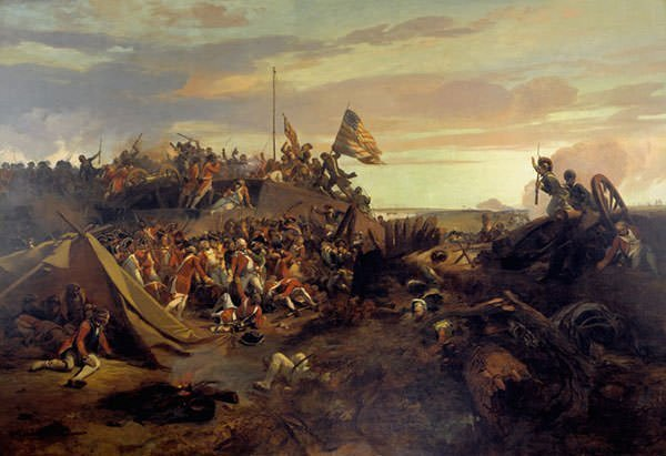 Battle of Yorktown Painting