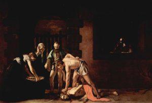 The Beheading of Saint John the Baptist (1608) - Caravaggio
