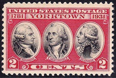 US Postage Stamp Yorktown Issue