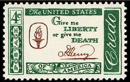 Patrick Henry Liberty Stamp