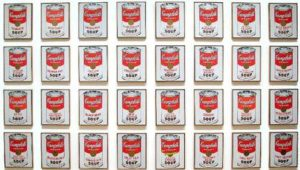 32 Canvases of Campbells Soup Cans (1962) - Andy Warhol