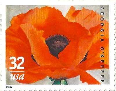 32 Cent Stamp in O'Keeffe's Honor