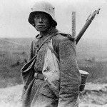 A German soldier in the Battle of the Somme