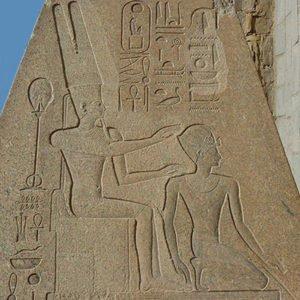 Hatshepsut being crowned as pharaoh